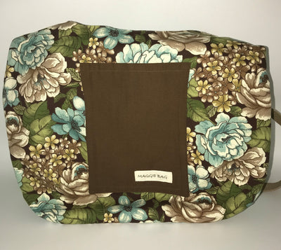 Brown Floral Large Maggie Bag