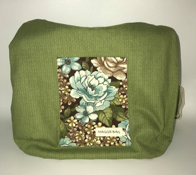 Brown and Sage Floral Large Maggie Bag