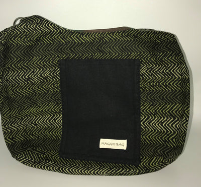 Camo and Olive Green Large Maggie Bag