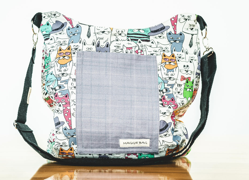 Colorful Cats Maggie Bag (Reversible)