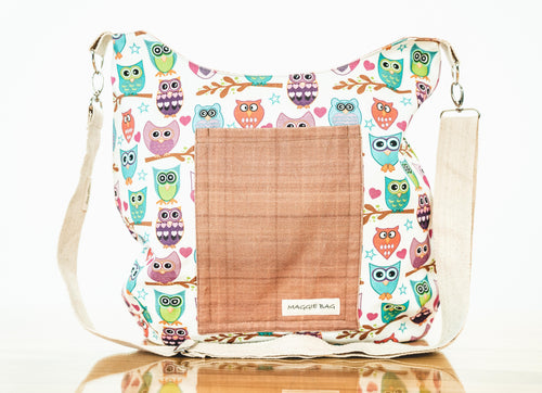 Colorful Owl Maggie Bag (Reversible)