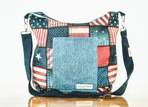 Patchwork Patriotism Maggie Bag (Reversible)