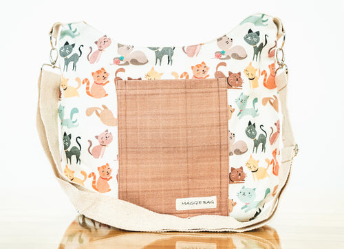 Cartoon Cat Maggie Bag (Reversible)