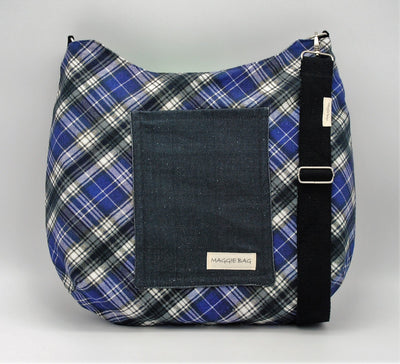 Emerald Green Plaid Maggie Bag (Reversible)
