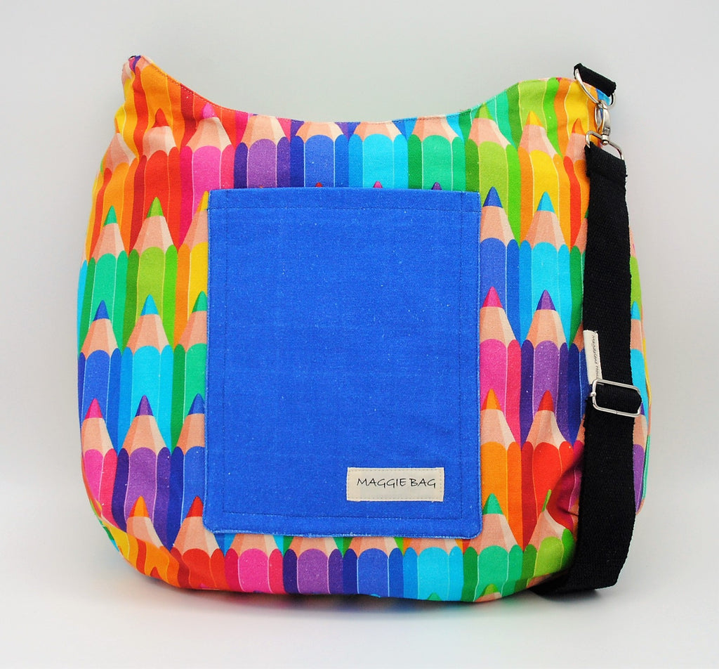 Colored Pencil Maggie Bag (Reversible)
