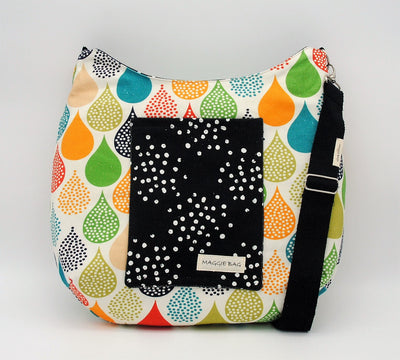 Colorful Tear Drops Maggie Bag (Reversible)