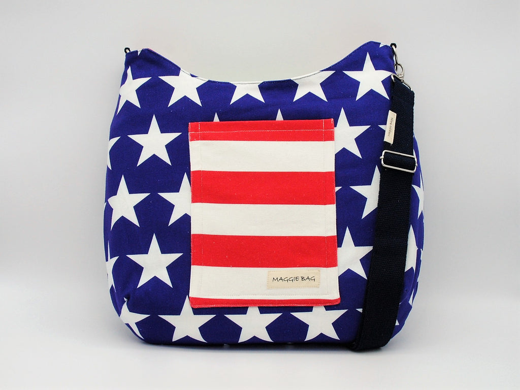 American Flag (Reversible) Large Maggie Bag