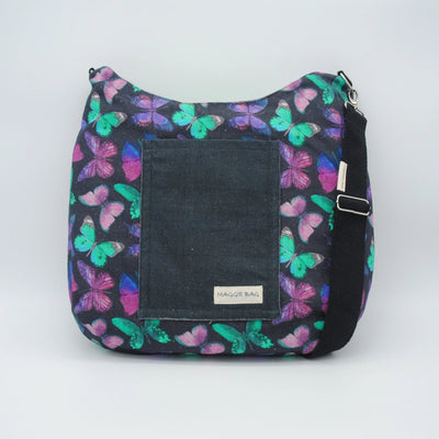 Purple Butterfly Maggie Bag (Reversible)
