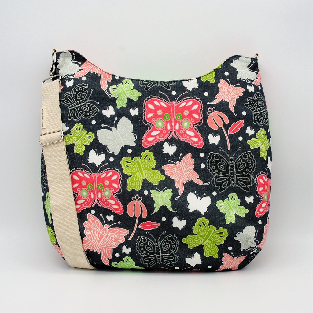 Coral Butterfly Maggie Bag (Reversible)