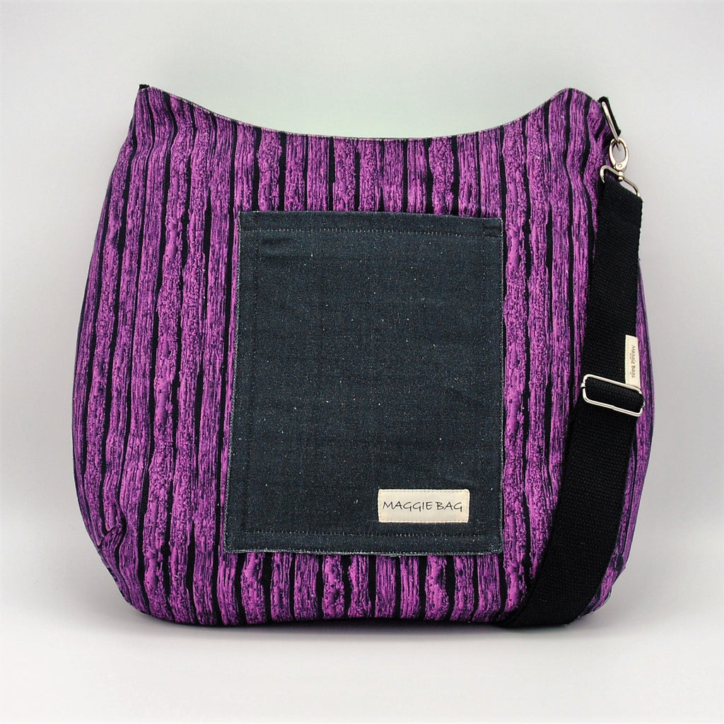 Purple Butterfly Large Maggie Bag (Reversible)