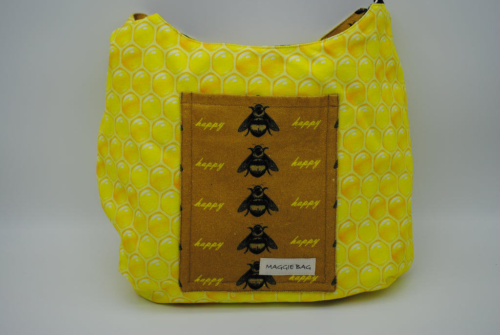 Happy Honey Bee Large Maggie Bag