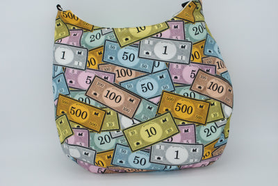Colorful Paper Money Large Maggie Bag