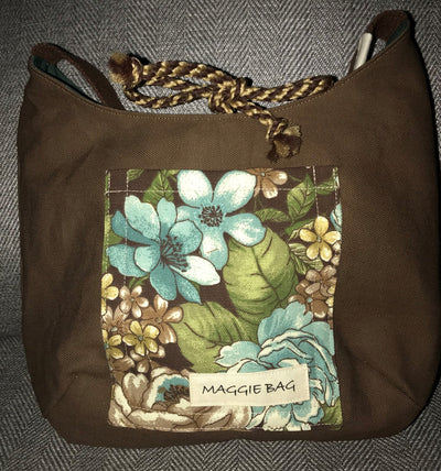 Brown Floral - Deer Combination Mini Maggie Bag
