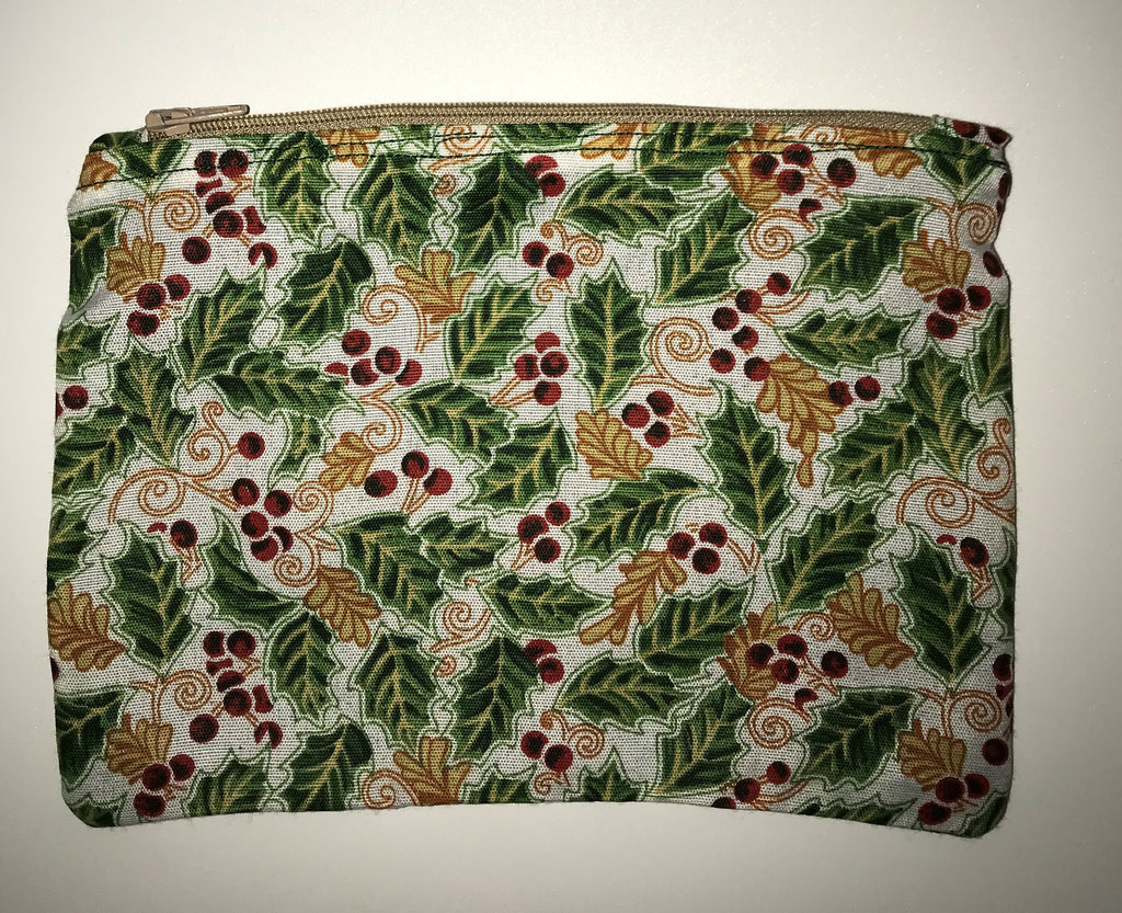 Maggie Bag Holly and Berry Zipper Pouch
