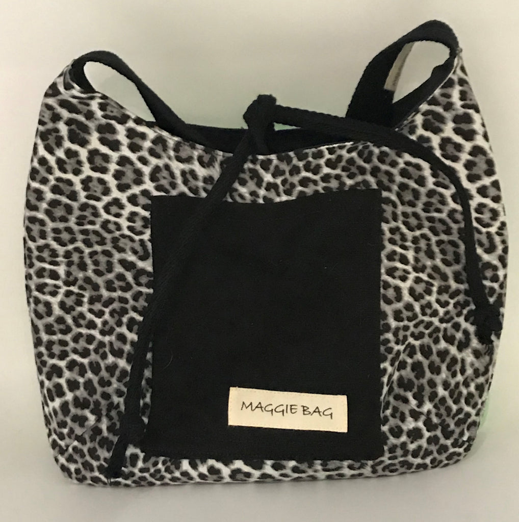 Snow Leopard Mini Maggie Bag