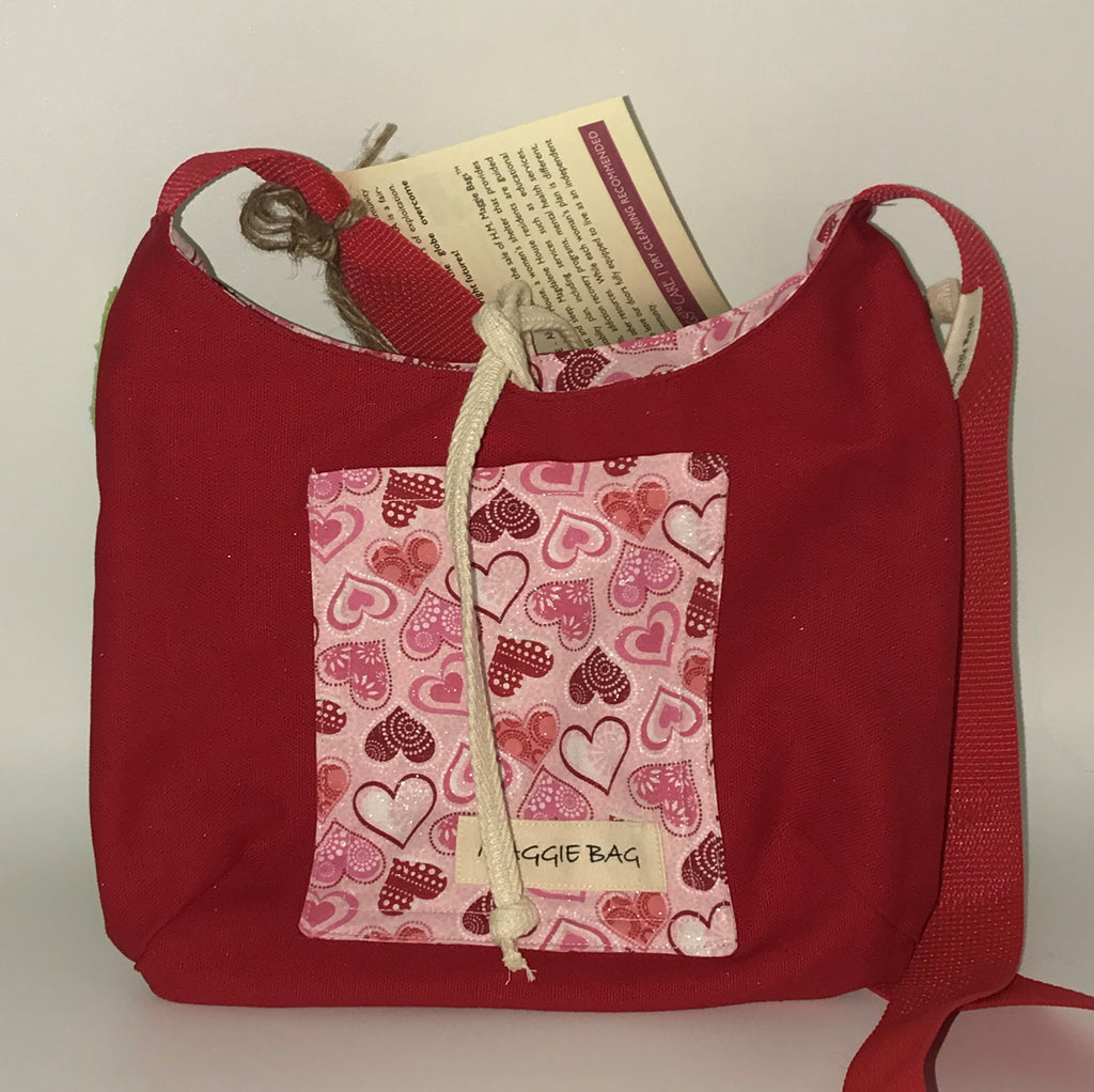 Valentine Series Maggie Bags - Mini Maggie Bag Pink Hearts