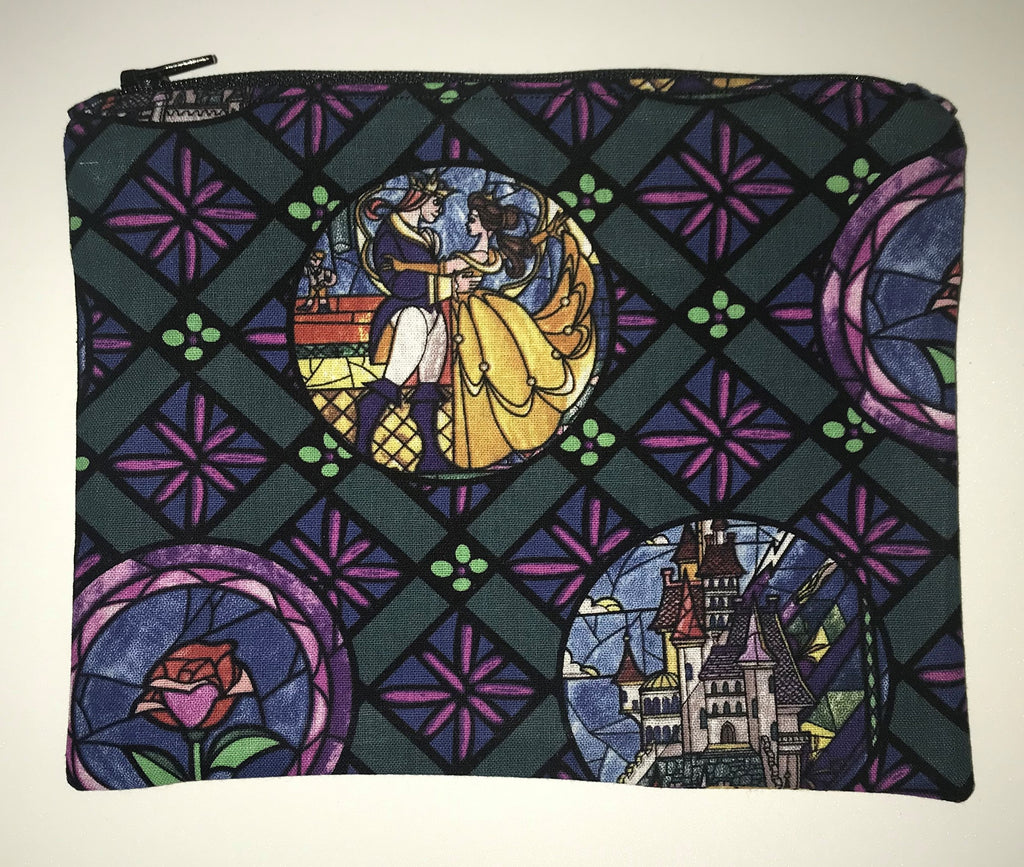 Maggie Bag Zipper Pouch - Beauty and the Beast