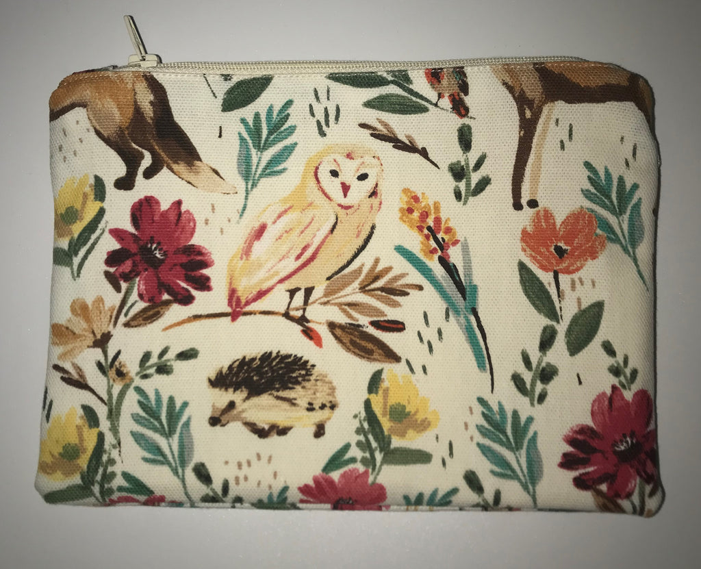 Maggie Bag Zipper Pouch - Woodland Animals