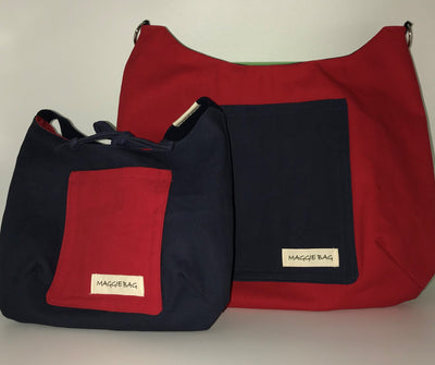 School Color Large Maggie Bag - Reversible