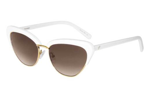 "Bask ""Peggy"" Sunglasses - Cotton/Brown Gradient Polarised"