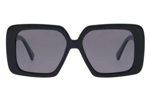 "Bask ""Lola"" Sunglasses - Shiny Black/Grey Polarised"