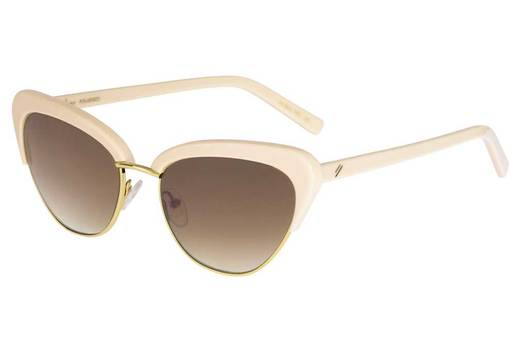 "Bask ""Peggy"" Sunglasses - Nude Pink/Brown Gradient Polarised"