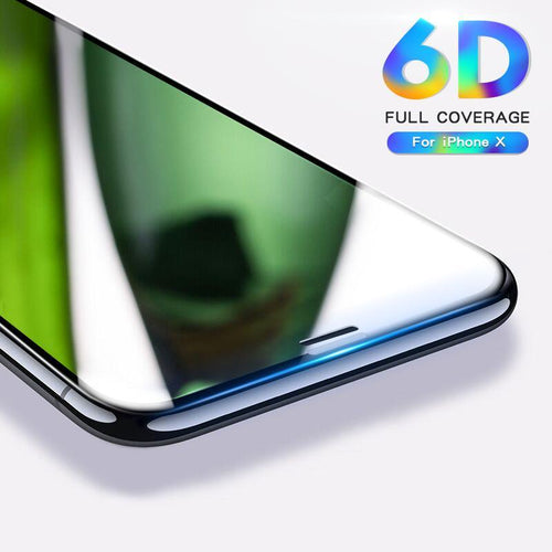 6D Edge Tempered Glass Screen Protector For iPhone