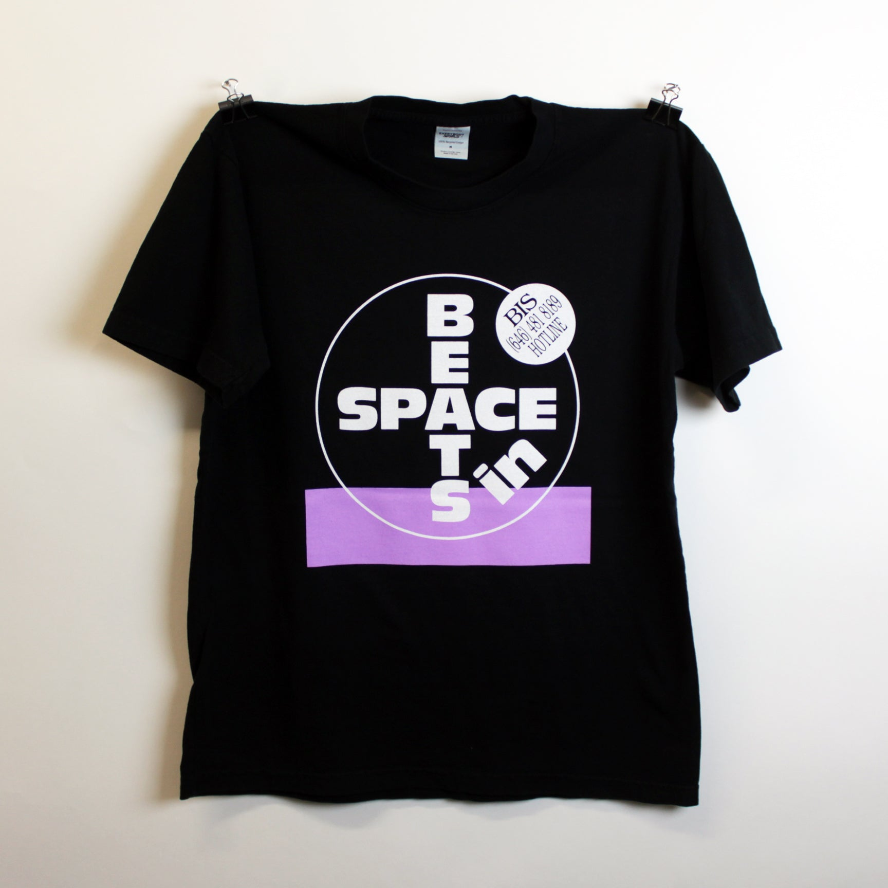 Beats In Space Hotline Tee (Black and Purple)