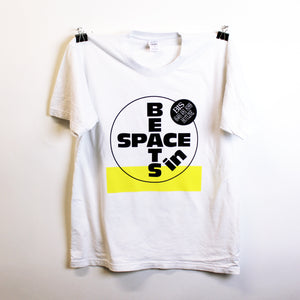 Beats In Space Hotline Tee (White and Yellow)