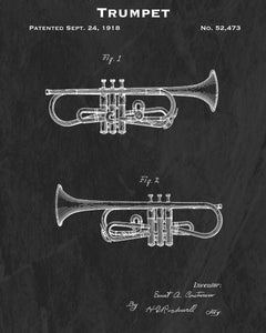 Trumpet Paper/Canvas Prints