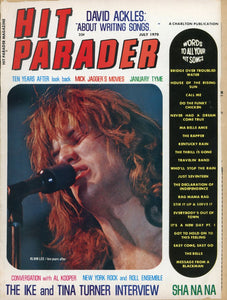 hit parader magazine - music magazine - musical collectable - music magazine back issue