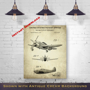 1964 Mooney Airplane Printable Patent Print - Aircraft Blueprint - Aviation Art - Printable Download - Digital Download Patent - Aviation Wall Art - Pilot Gift Idea