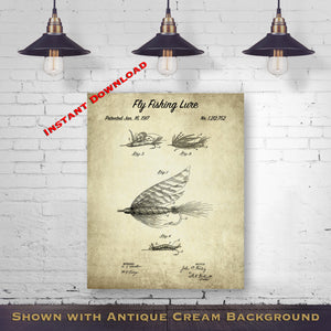 1903 Fishing Reel Printable Patent Print - Fishing Decor - Fisherman Gift Art - Printable Download - Digital Download Patent - Fishing Wall Decor