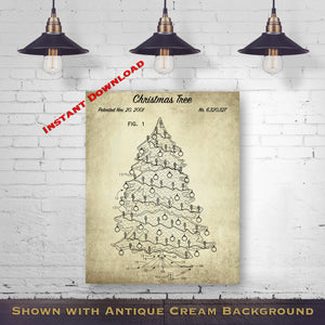 1956 Christmas Tree Printable Patent Print - Holiday Blueprint - Christmas Decor - Printable Download - Digital Download Patent - Holiday Patent Art - Seasonal Patent Print