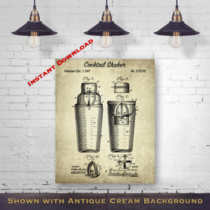 Alcohol Patent Prints - Home Bar Decor - Drinking Wall Art - Beer Blueprint Art - Retro Gift For Drinker - Printable Download - Digital Download