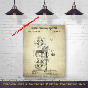 Theatre Printable Patent Print - Mid Century Movie Theater Decor - Printable Download - Digital Download Patent