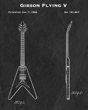 1958 Gibson Flying V Guitar Patent Art Print
