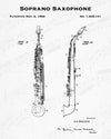 1926 Soprano Saxophone Patent - 8X10 Digital Download Patent