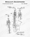 1931 Biolcati Saxophone Patent - 8X10 Digital Download Patent