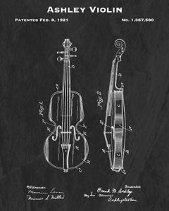 1921 Ashley Violin Patent Art Print
