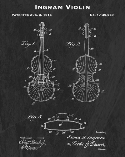1915 Ingram Violin Patent Art Print