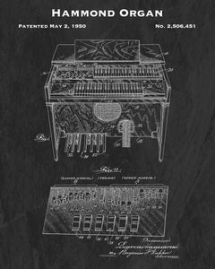 1950 Hammond Organ Patent Art Print