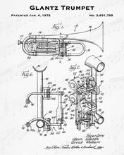1972 Glantz Trumpet Patent - 8X10 Digital Download Patent