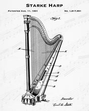1931 Starke Harp Patent - 8X10 Digital Download Patent