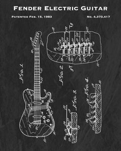 1983 Fender Electric Guitar Patent Art Print