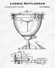 1951 Ludwig Kettledrum Patent - 8X10 Digital Download Patent