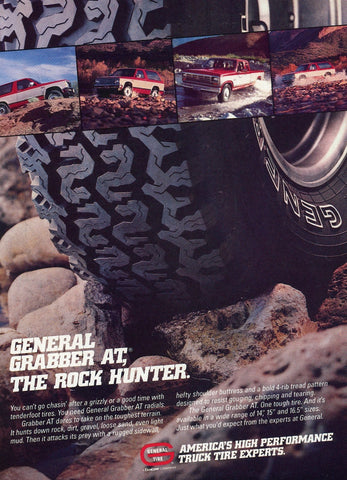 General Tire Print Advertisement - Automobile Shop Wall Decor - Car Enthusiast Gift Art