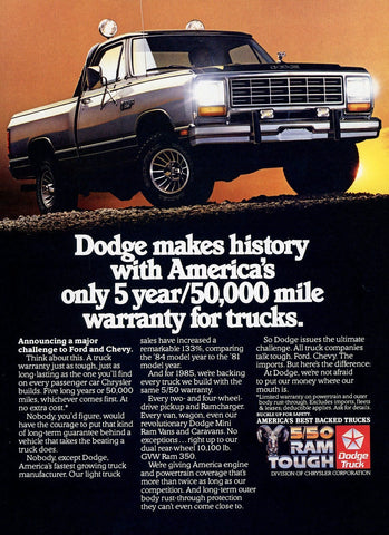 Dodge Ram Truck Advertisement - Truck Enthusiast Gift Art - Man Cave Wall Hanging