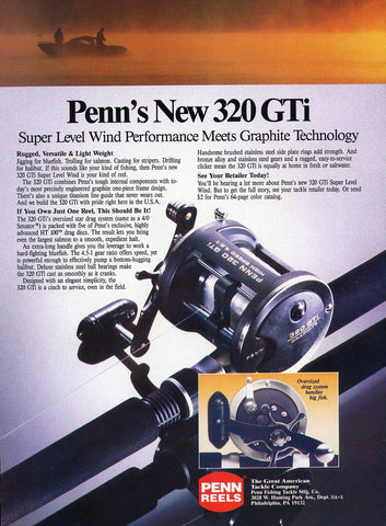 Penn Reels Print Advertisement - Fishing Enthusiast Gift Art - Spincast Fishing Reel