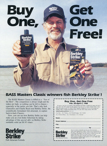 Berkley Strike Fish Attractant Formula Print Advertisement - Fishing Enthusiast Gift Art